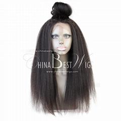 kinky straight virgin hair 360 wig