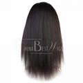 kinky straight virgin hair 360 wig 3