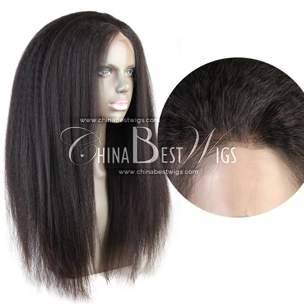 kinky straight virgin hair 360 wig 5