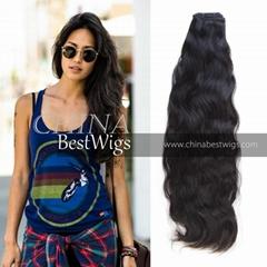 virgin hair wavy weft