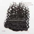 loose curl swiss lace frontal
