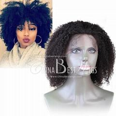 tight curl high density black wig