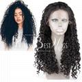 virgin brazilian hair curly wig