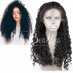 virgin brazilian hair curly wig