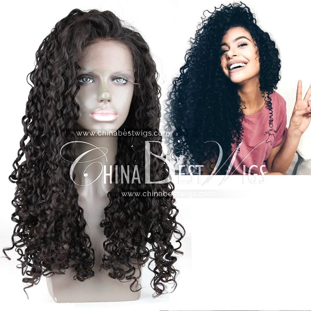 virgin brazilian hair curly wig 4