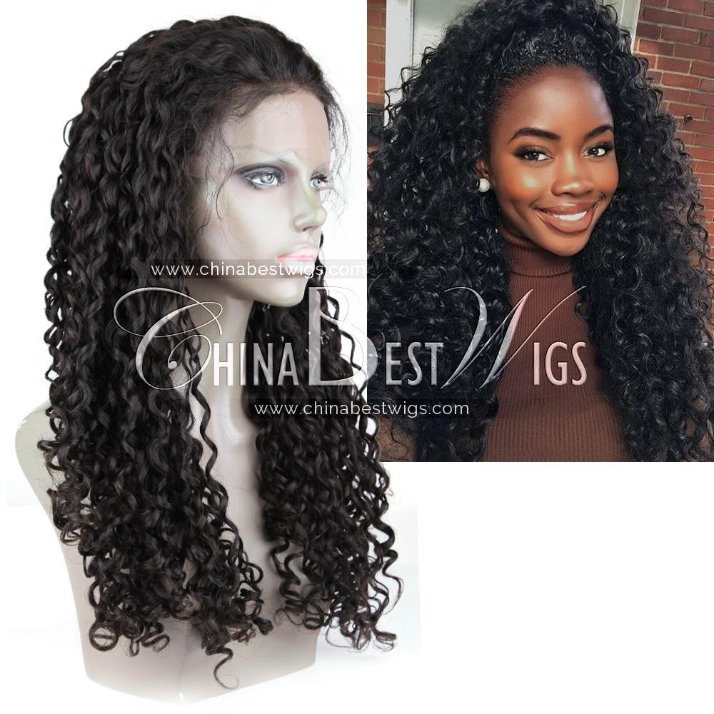 virgin brazilian hair curly wig 5