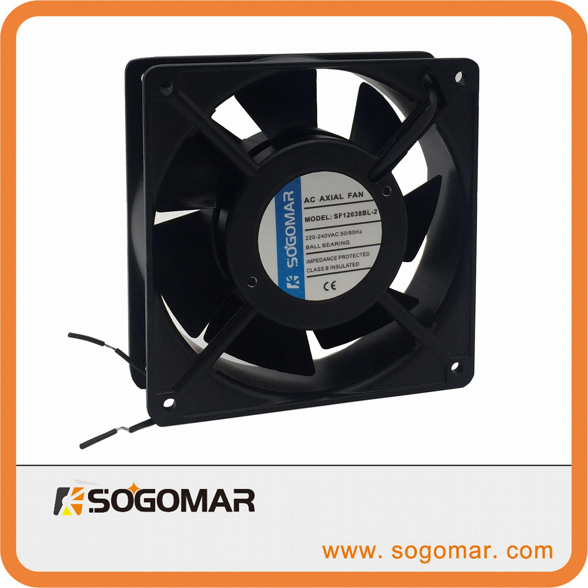 Axial Fan 120X120X38mm AC and DC for cooling 1