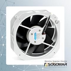 225x225x80mm Axial fan metal blades 220VAC