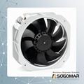 225x225x80mm Axial fan metal blades 220VAC 2