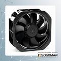 225x225x80mm Axial fan metal blades 220VAC 4