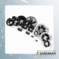 225x225x80mm Axial fan metal blades 220VAC 5