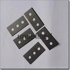 供應國產c100材質標準三孔異形刀片