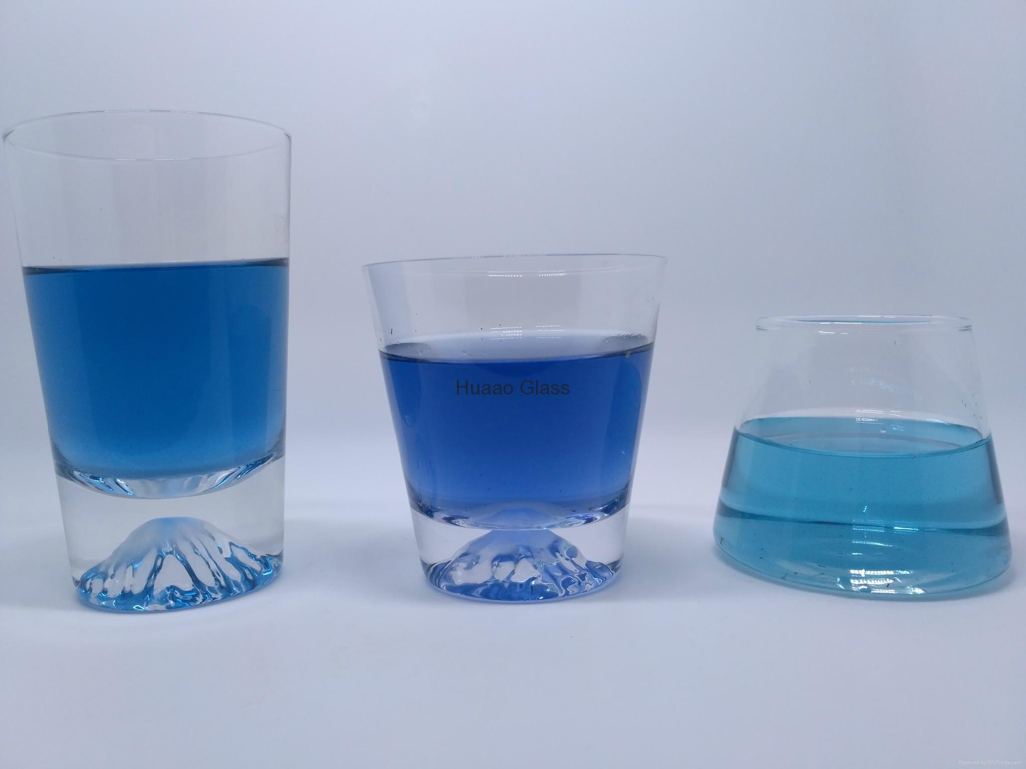 Cangzhou Borosilicate handmade short glass cup Fuji shaped glass wine cups 1