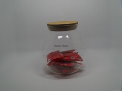 Cangzhou Borosilicate handmade sugar bowl/50ml Heat-resisting glass jars