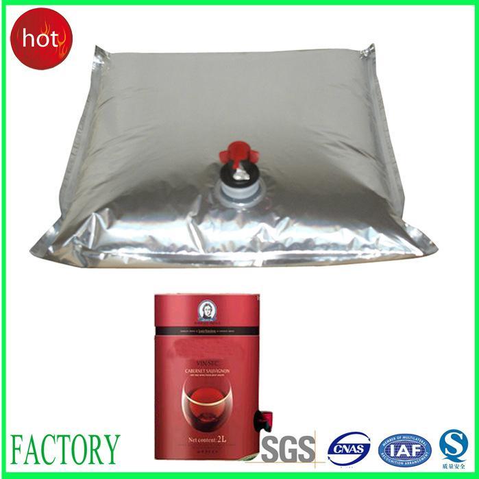 bag in box aluminum aseptic plastic bags juice/wine 1