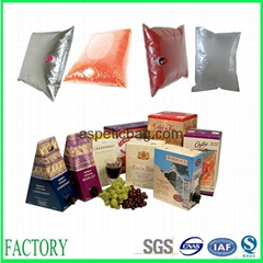 Hot sale bag in box aluminum aseptic plastic bags for juice made in China