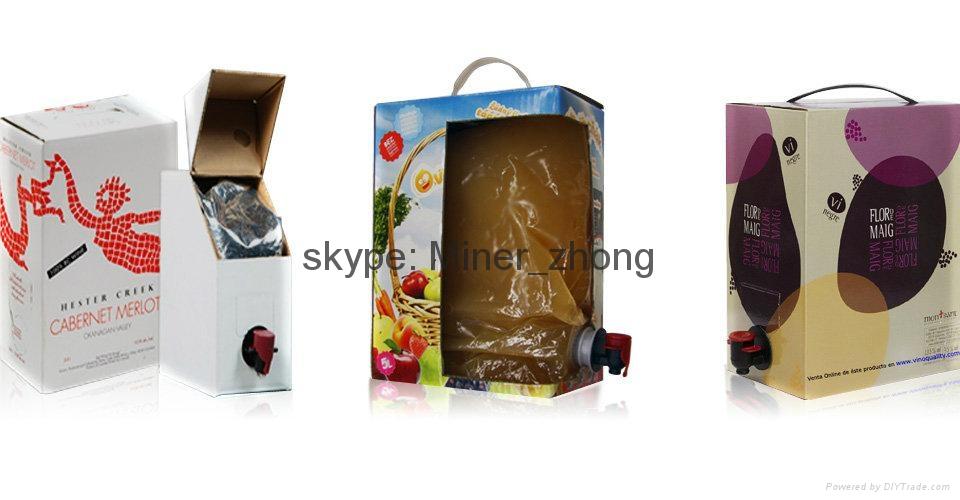 aluminum foil wine bag with tap va  e 1