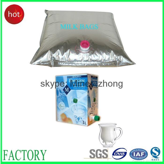 aluminum foil wine bag with tap va  e 3