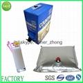 aluminum foil wine bag with tap va  e 5