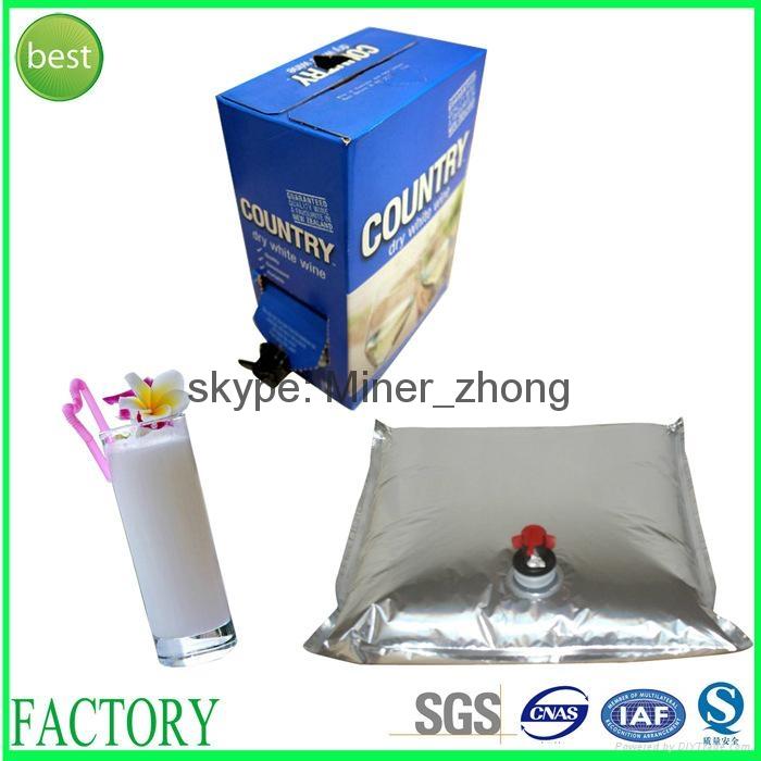 Wine Juice Bag In Box Aluminum Foil Spout Wine Packaging 3L 5L 10L 20L 1