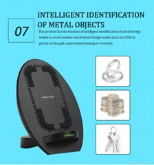 Qi fast wireless charger stand factory sailing temperature control charging