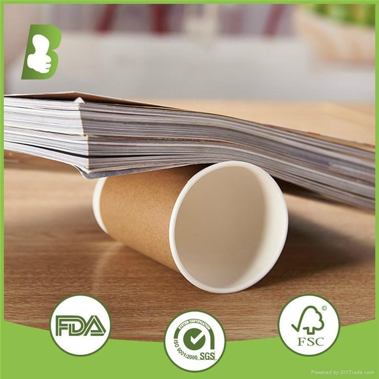 Disposable hot drinking 600ml double wall paper cup custom print 1