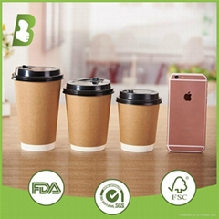 16oz coffee bevertea age milk kraft paper cups with lids