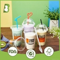 16oz Disposable Clear/Colored Plastic Cup 1