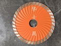 Hard concrete-Turbo wave saw blade