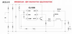 芯联一级代理 CL1550 非隔离 外置MOS 60w