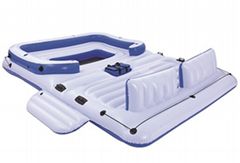 Inflatable Island Floating Raft Water Lounge Boat Lake 6 Person Pool Party Float