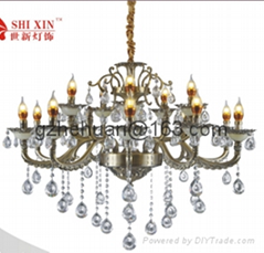 68613 series.Crystal Candle Chandelier(zinc alloy)