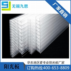 无锡阳光板8mm拜耳原料透明pc2.1*6m板材专家