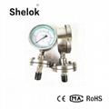 Diaphragm precision oil pressure gauge 2