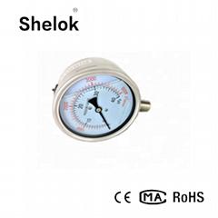 Stainless steel manometer oil fiied pressure gauge