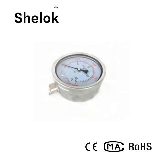 Stainless steel manometer oil fiied pressure gauge 2
