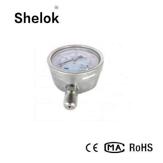 Stainless steel manometer oil fiied pressure gauge 3