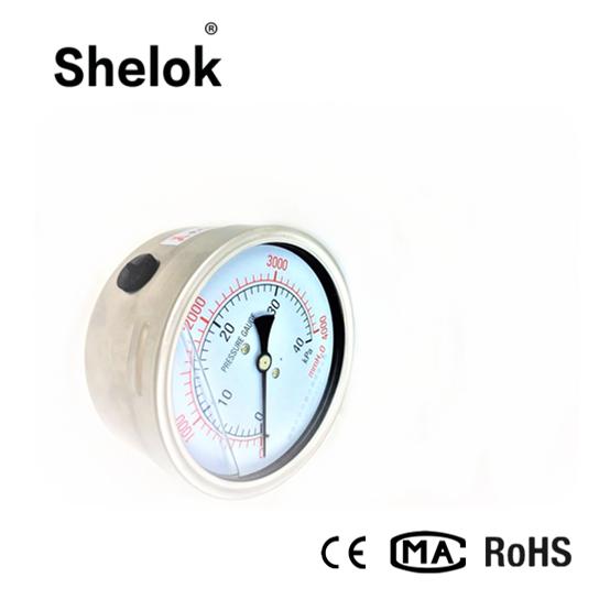 Stainless steel hydraulic capsule oil pressure gauge 1