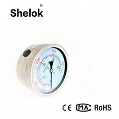 Stainless steel hydraulic capsule oil pressure gauge