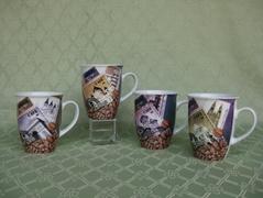 Painted Castle Ceramic Mugs