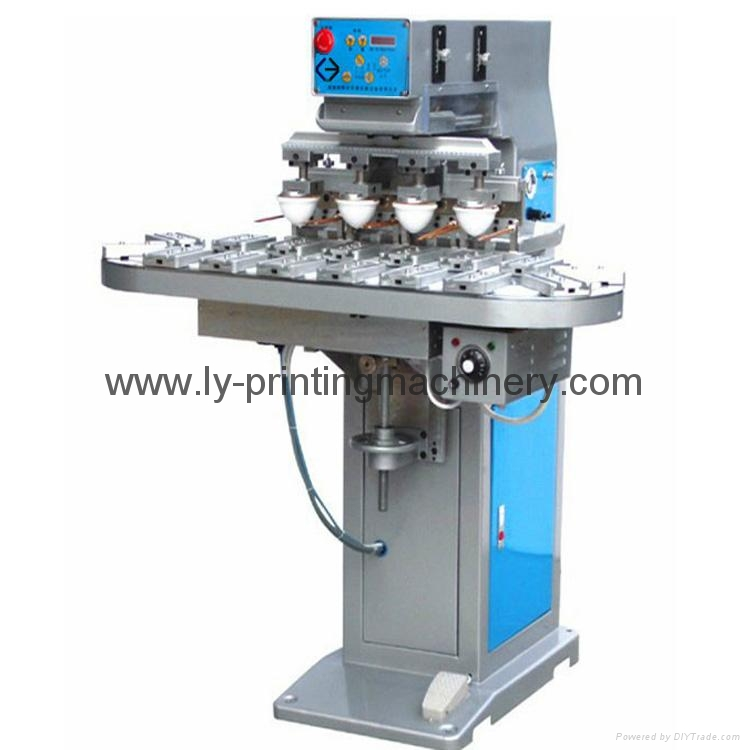 LY 4 color pad printing machinery with conveyor 1