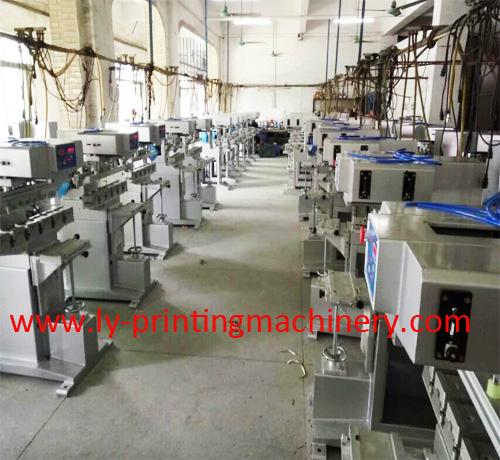 LY 4 color pad printing machinery with conveyor 2