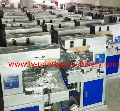 LY 4 color pad printing machinery with conveyor 4