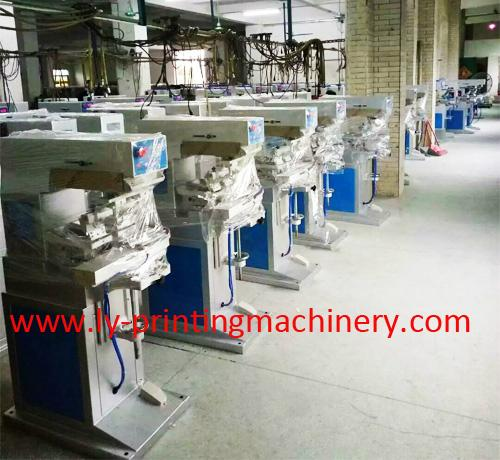 LY 4 color pad printing machinery with conveyor 5