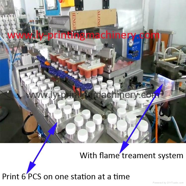 Full auto 4 color pad printing machine for bottle cap - LY-PC4