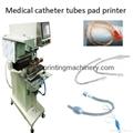 Medical catheter tube pad printing