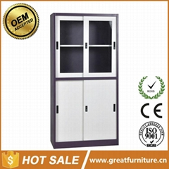 Two Glass Sliding Door Steel File Cabinet With Price