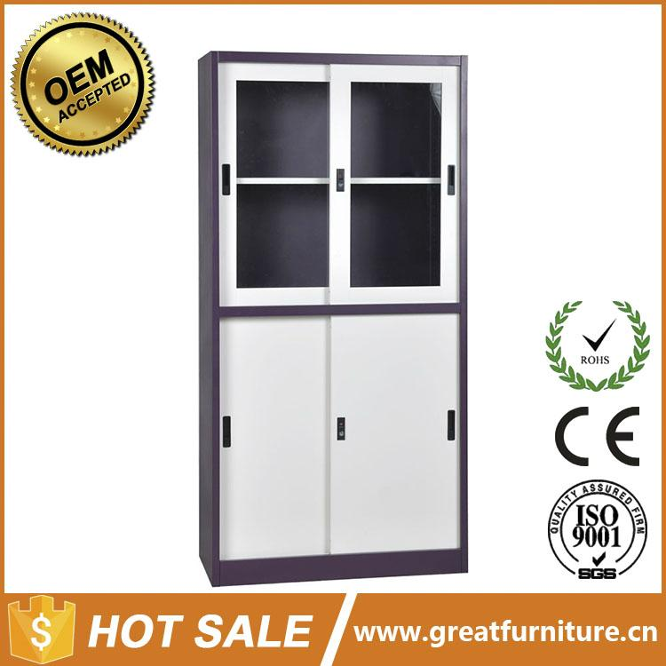 Two Glass Sliding Door Steel File Cabinet With Price 5