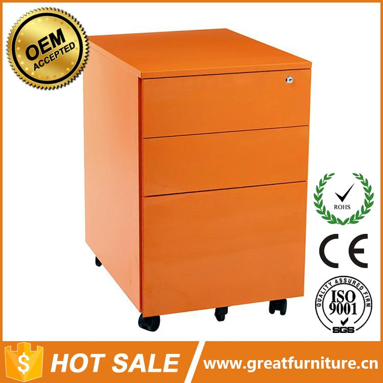 Office Equipment A4 File Cabinet 3 Drawer Mobile Pedestal 1