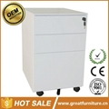 Office Equipment A4 File Cabinet 3 Drawer Mobile Pedestal 2